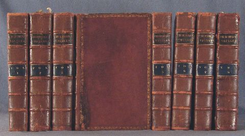 Churchill, A collection of Voyages and Travels, Osborne, 1752. 8 tomos