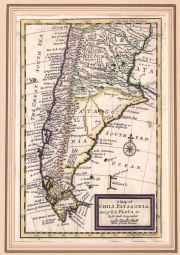 MOLL, Herman. 'A MAP OF CHILI, PATAGONIA, LA PLATA  AND YE SOUTH PART OF BRASIL