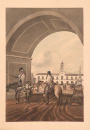 VIDAL: 'The Cabildo. Buenos Ayres, from under the arc of the market piazza' porchoir, Paris 1931 tomado del de 1817