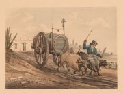 VIDAL: 'Buenos Ayres. Water cart January 1818', porchoir, Paris 1931. Segun el original de 1818.