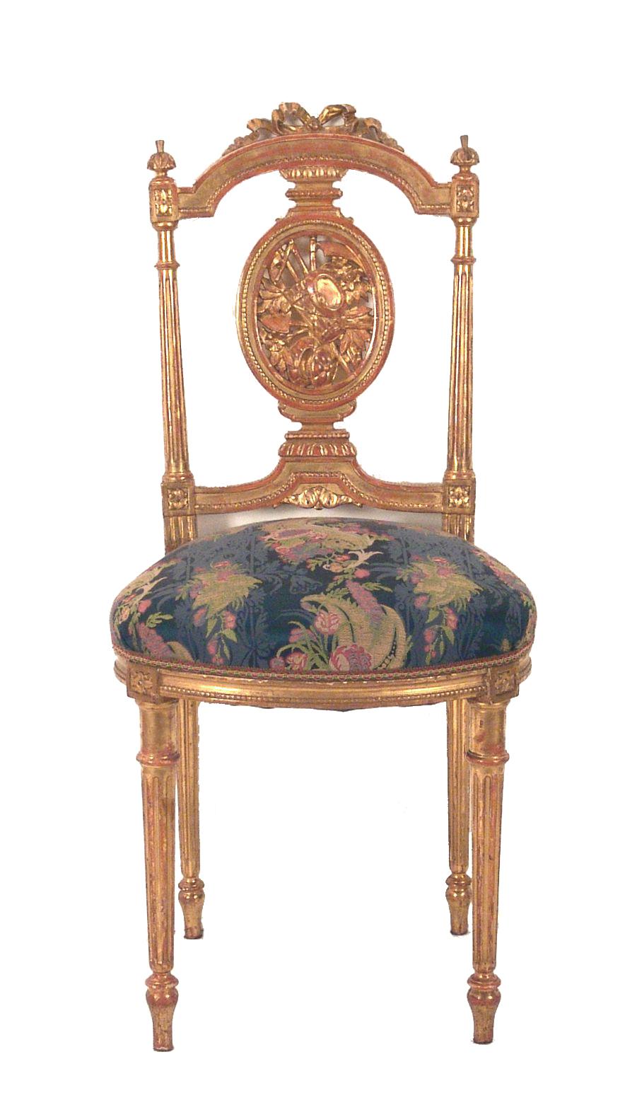 Pareja de sillas estilo luis xvi en madera tallada y - Silla estilo luis xvi ...