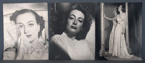 Joan Crawford, cinco fotografías.