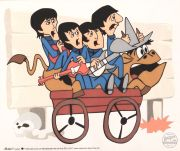 Beatles, Bullride, celuloide de animación (Animation Cell). Recreación de los Cartoons Series The Beatles Saturday Morni