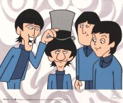 Beatles, Casual, celuloide de animación (Animation Cell), Recreación de las Cartoon Series The Beatles Saturday Morning