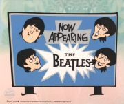 Beatles, Now Appearing, celuloide de animación (Animation Cell), recreación de los Cartoons Series  The Beatles
