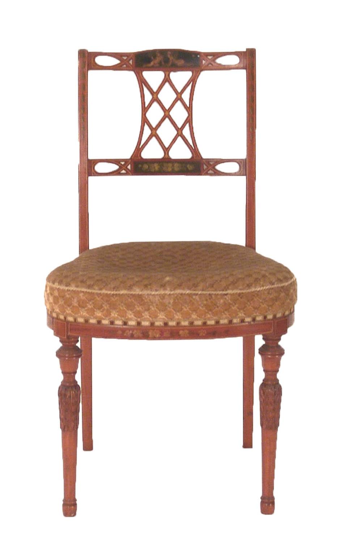 Pz sala eduardianas, tapizado con deterioros, sofá, 6 sillas y 2