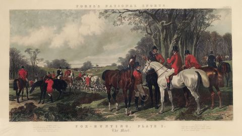 Fox Hunting, Plate I, The Meet grabado de Fore´s National Sports