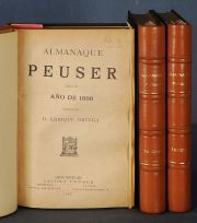 ALMANAQUE PEUSER 1887 - 1892...1888 A 1893. (6 VOL EN 3 TOMOS).