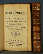 MABLY, LE DROIT PUBLIC DE L'EUROPE PAR .2 VOL