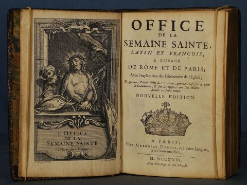 Office de la Semaine sainte, 1724, cuero (84)