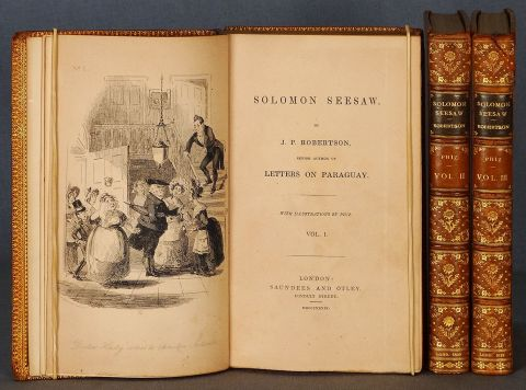 Robertson J.P. : Salomon Seesaw by, 1839, cuero 3 Vol