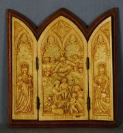 Natividad, triptico relieve.