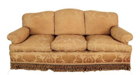 Sofa confortable, 3 cuerpos, tap floreado c/3 almohadones -14